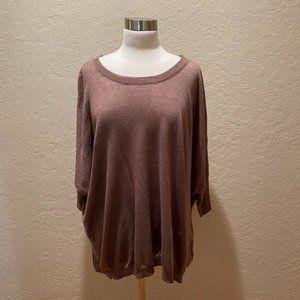 J Crew linen blend dolman short sleeve sweater XL